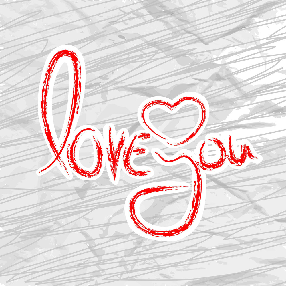 Valentines Day   With Text Love You On Abstract Background