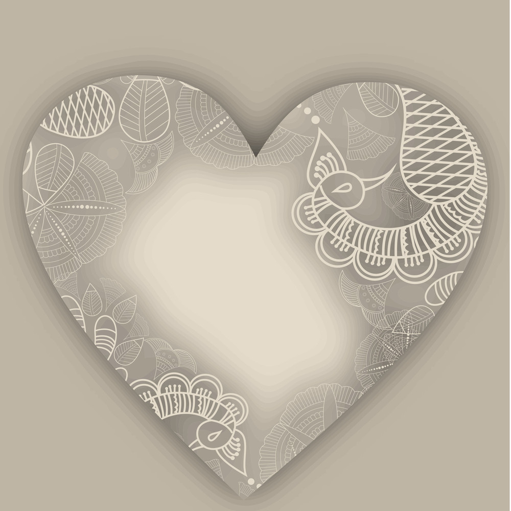 Valentines Day      With Traditional Flal Design