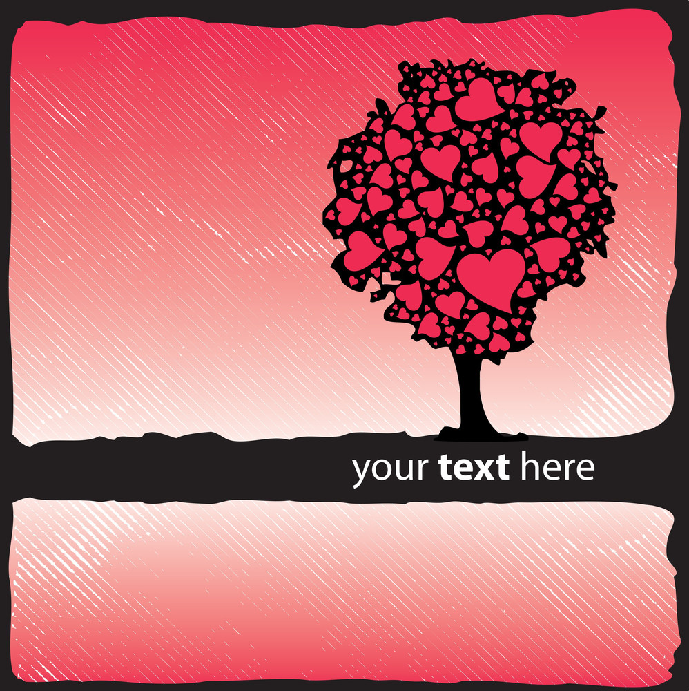 Valentine's Design - Tree With Hearts
