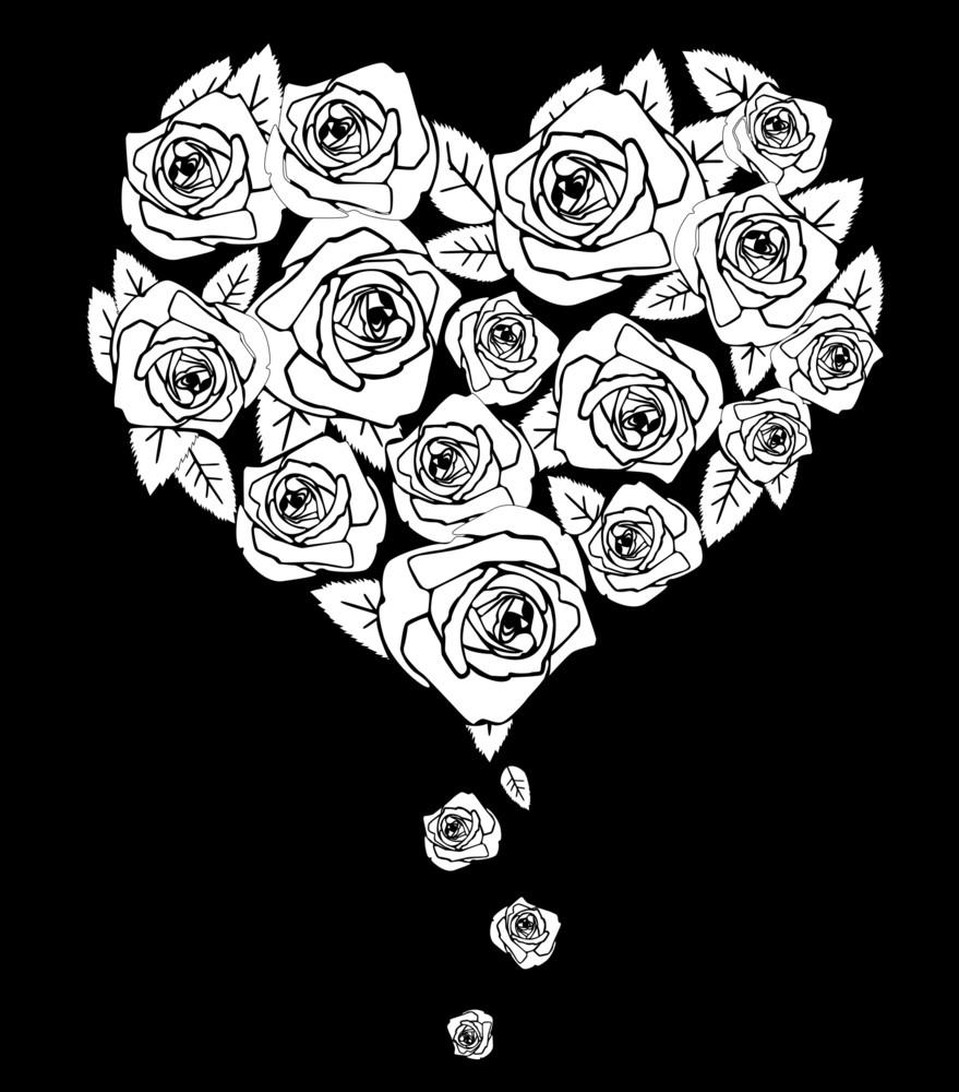 Valentines Heart On Black