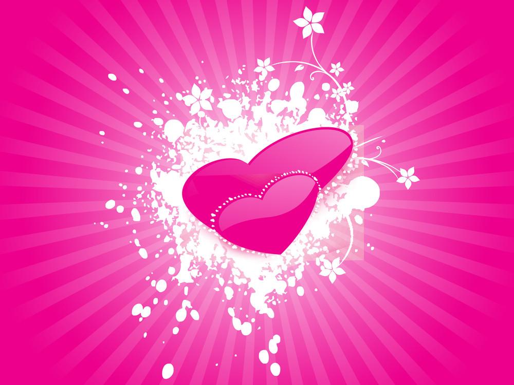 Valentines Heart Shape Texture