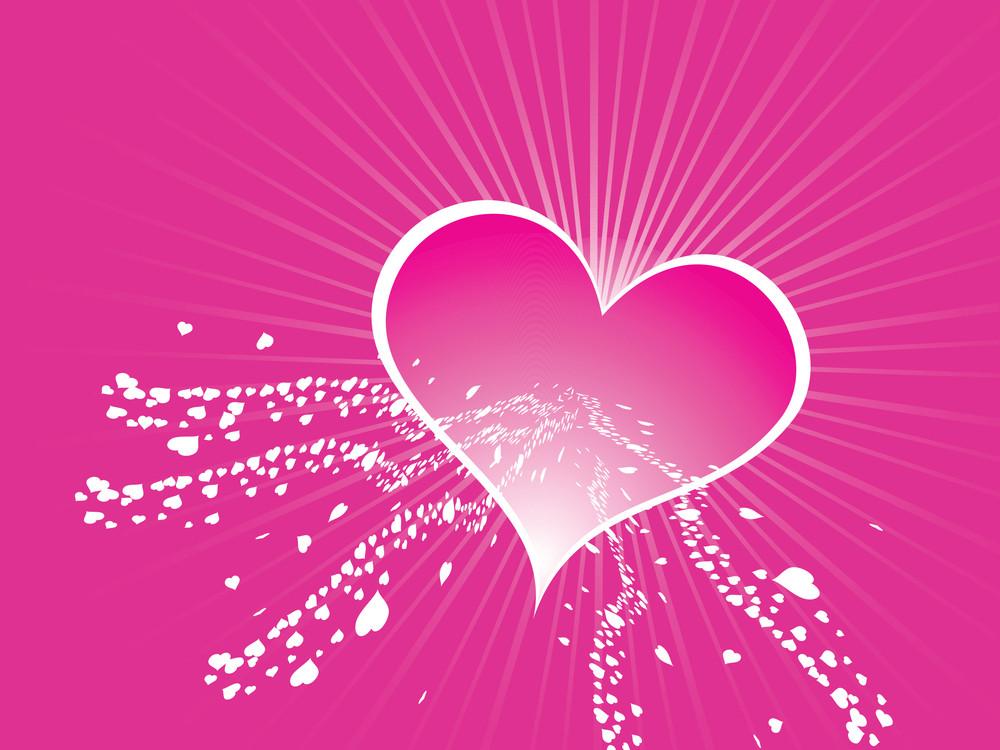 Valentines Heart Shape Wallpaper
