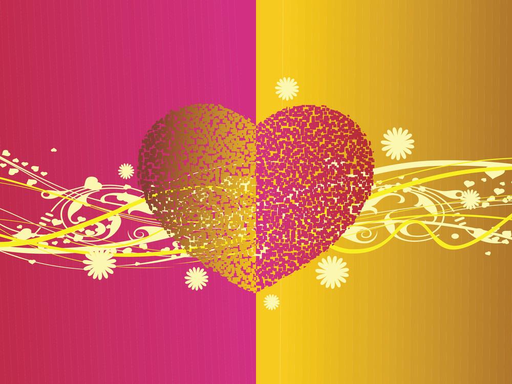 Valentines Shining Heart