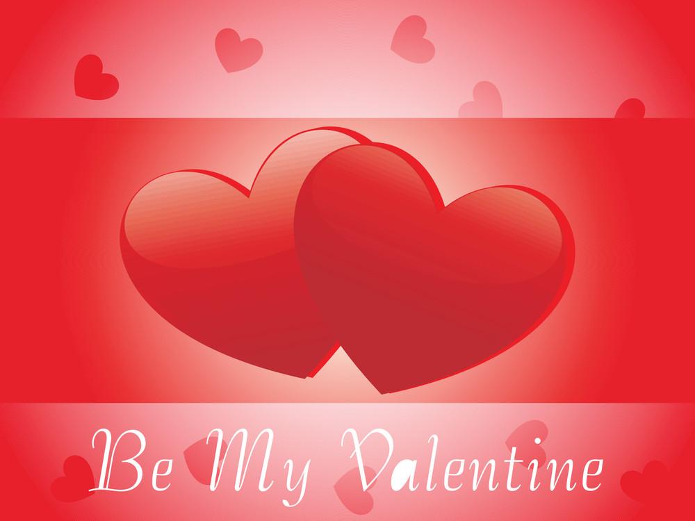 Valentines Shining Hearts