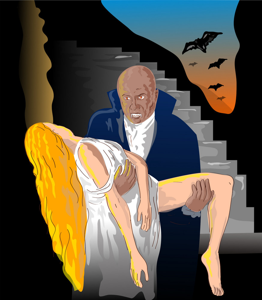 Vampire Carrying Woman