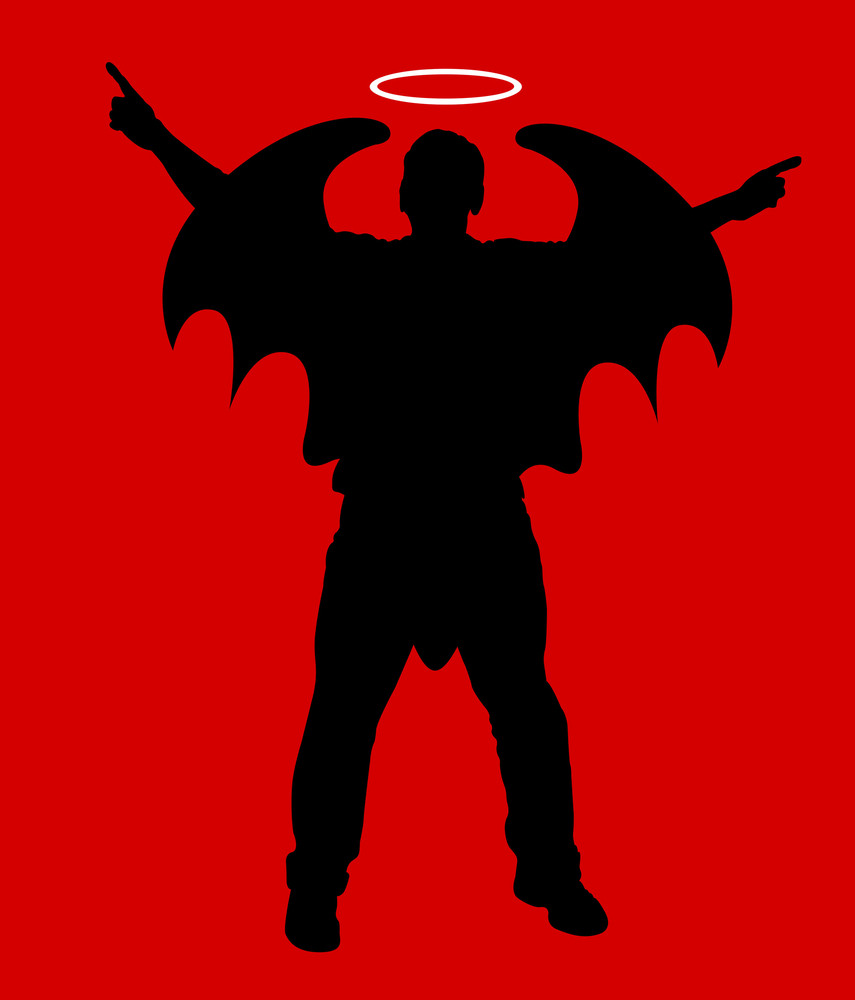 Vampire Character Shape Vector