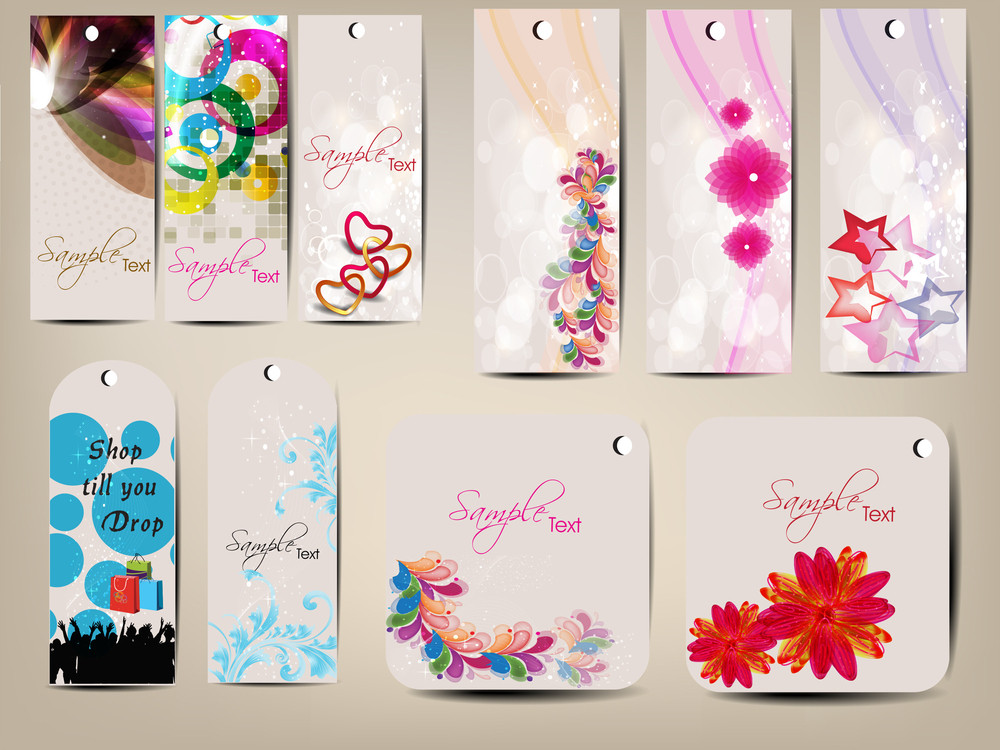 Variety Of Colorfull Tags For Multiple Use.