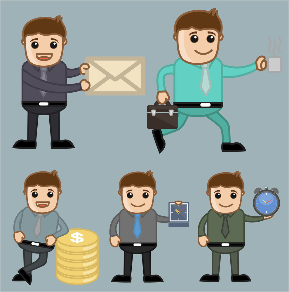 Various Concepts - Office And Business People Cartoon Character Vector Illustration Concept