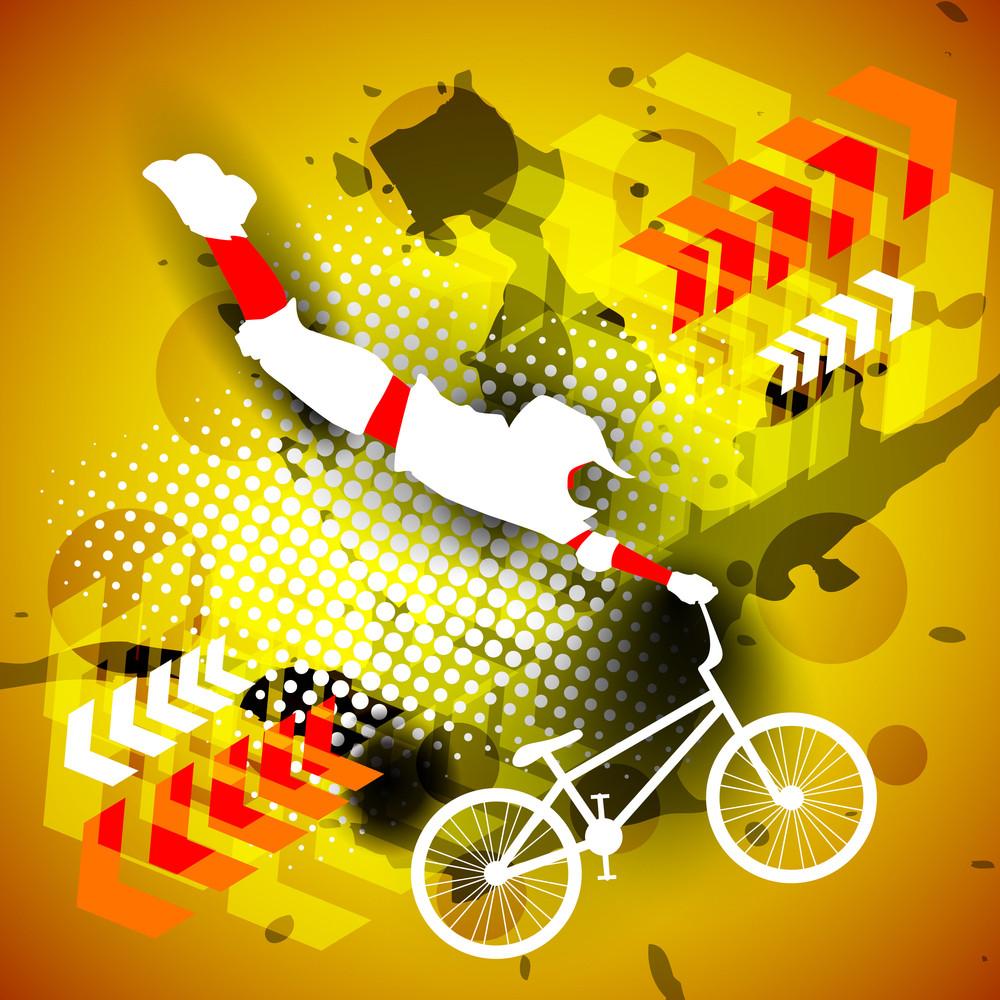 Vecto Illustration Od Bmx Cyclist