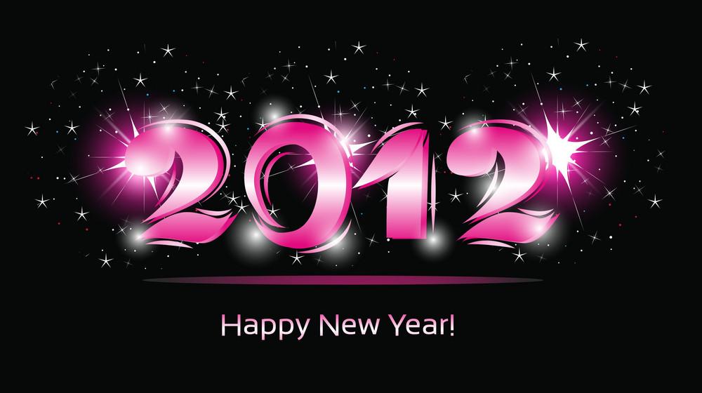 Vector 2012 Greeting Card