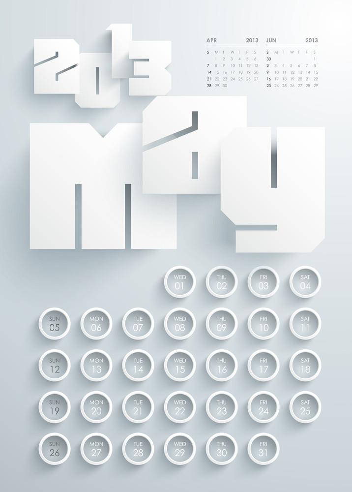 Vector 2013 Calendar Design - May