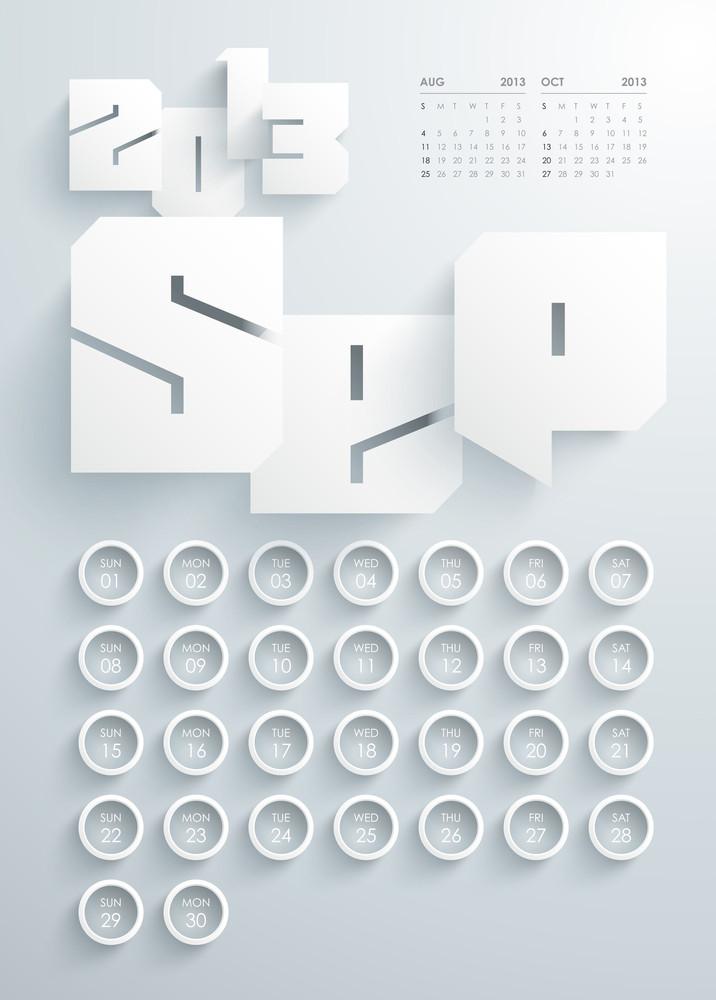 Vector 2013 Calendar Design - September