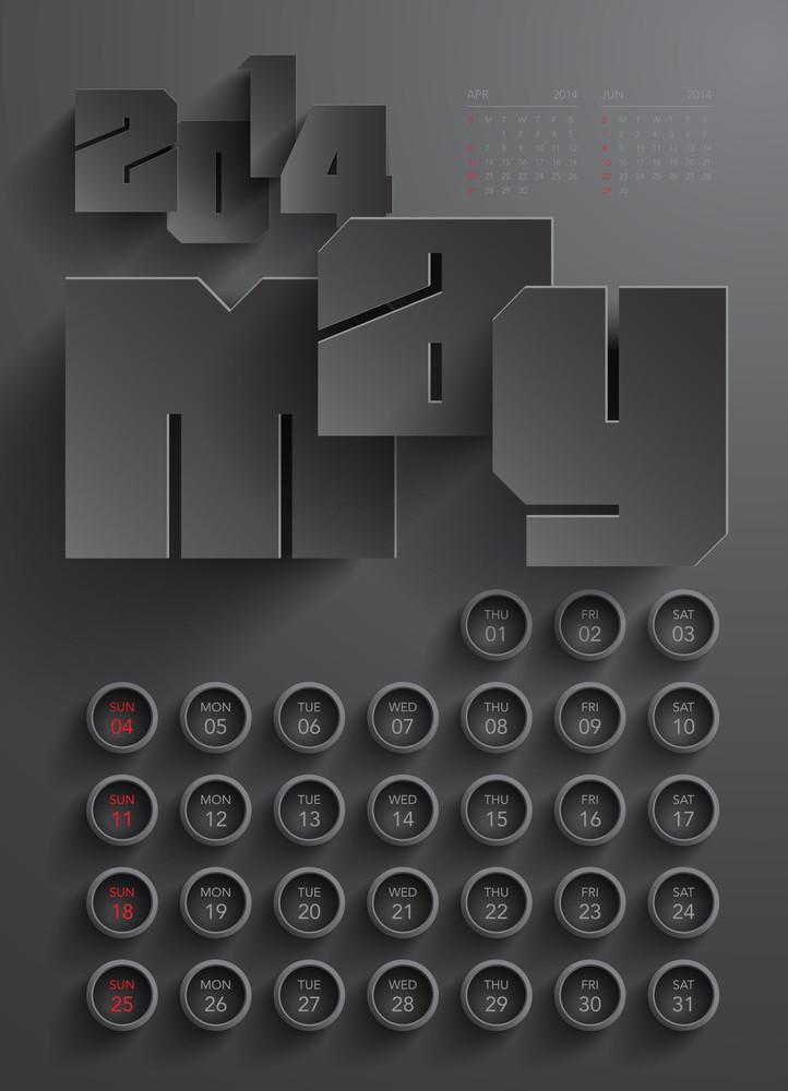 Vector 2014 Calendar Design - May