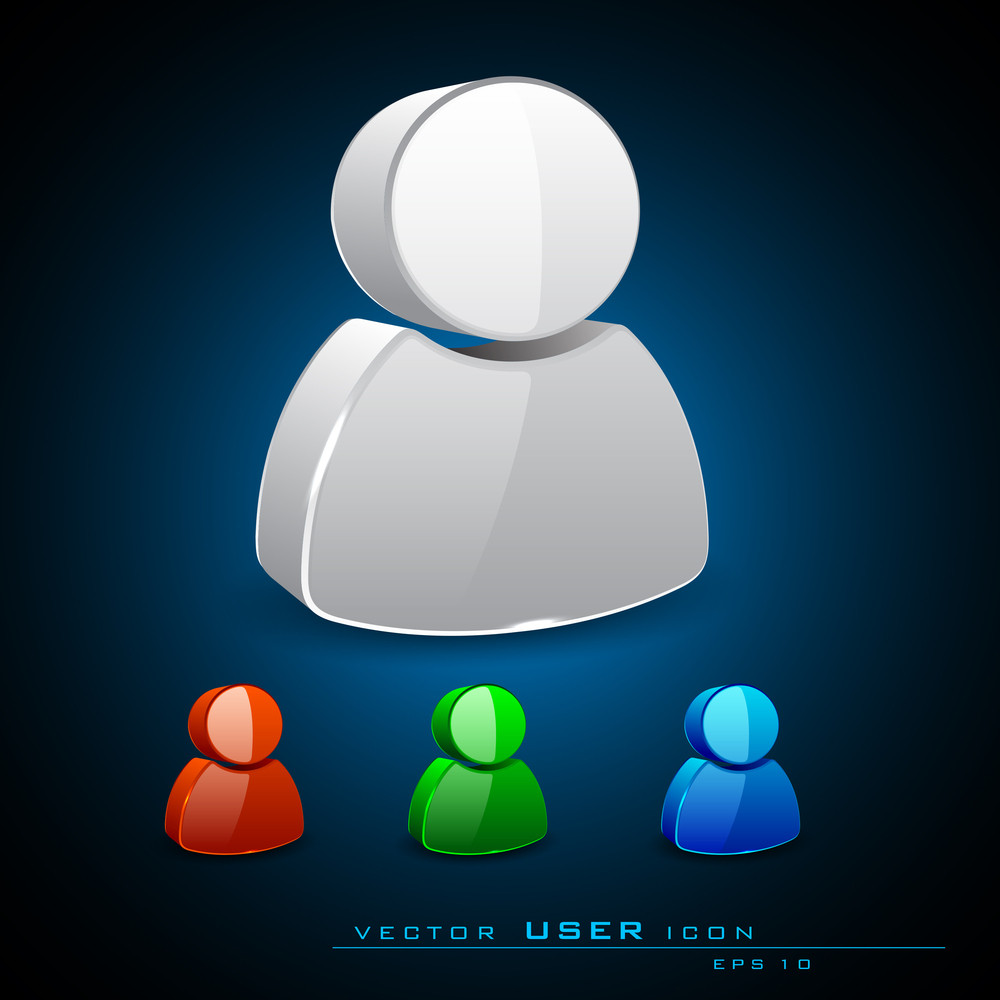Vector 3d User Icons Set