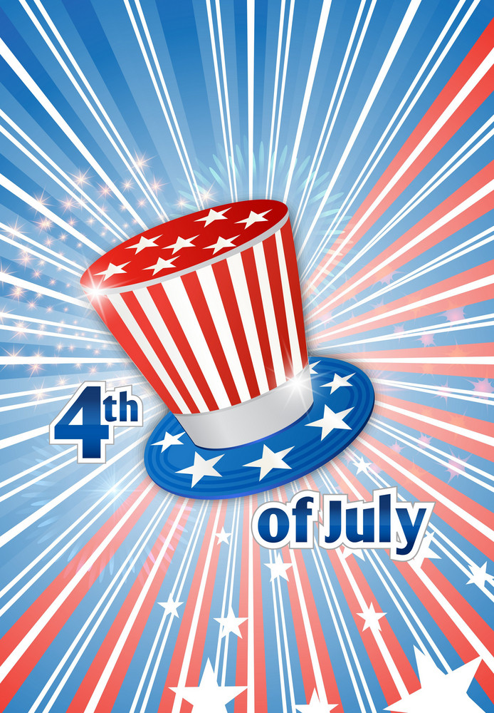 Vector 4th Of July Background With Hat