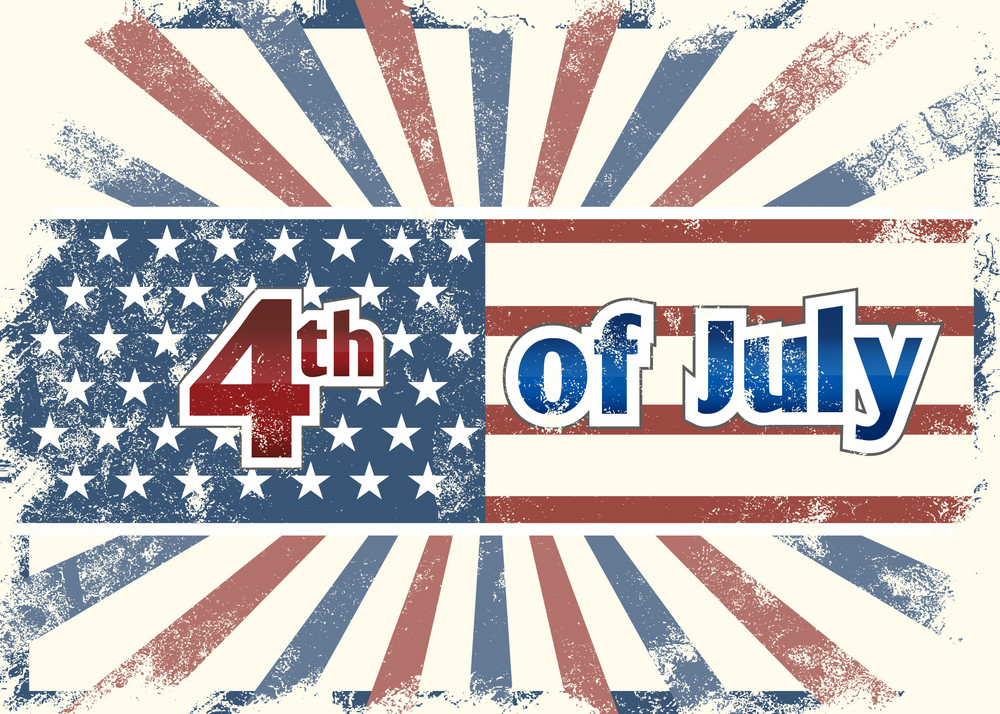 Vector 4th Of July Background With Rays