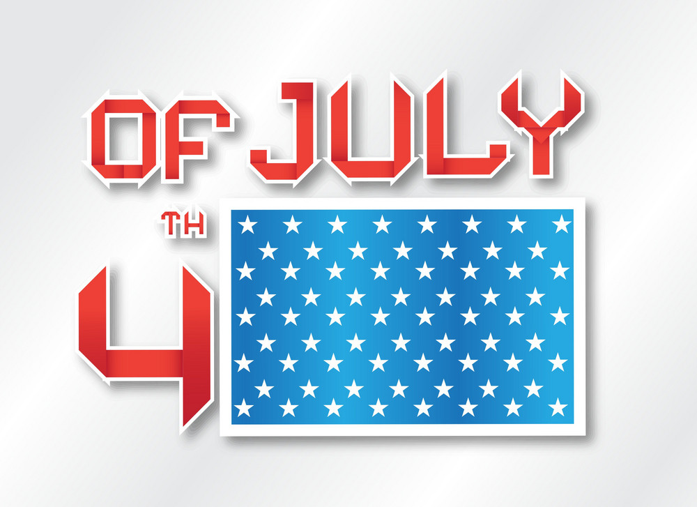Vector 4th Of July Background