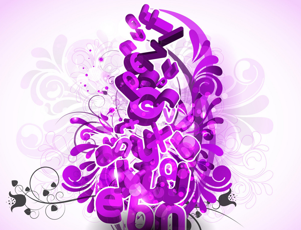 Vector Abstract Background With 3d Letters