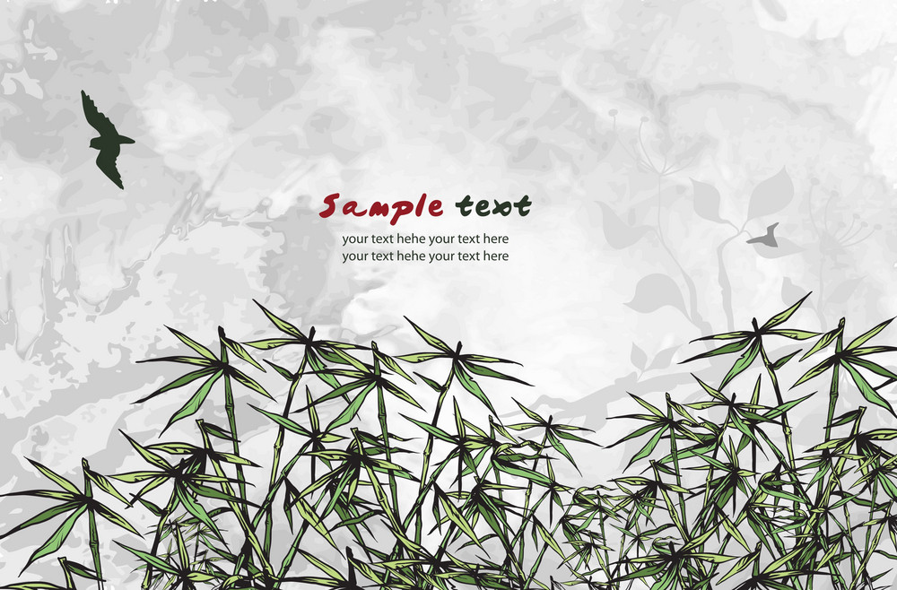 Vector Abstract Background With Bamboo