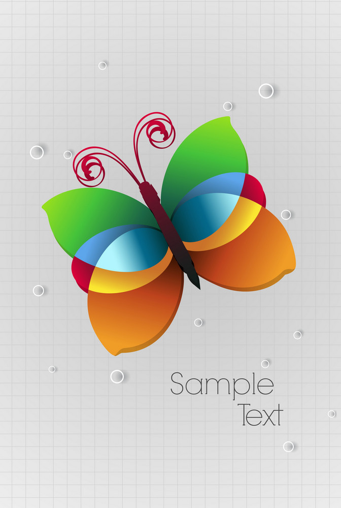 Vector Abstract Background With Buttlerfly