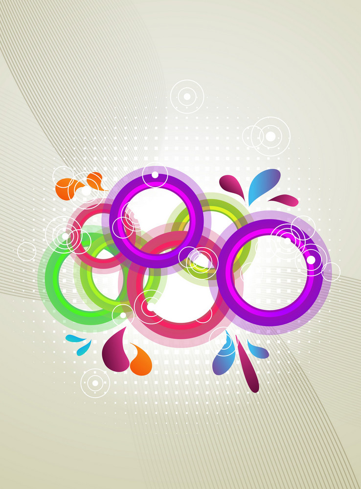 Vector Abstract Background With Colorful Circles