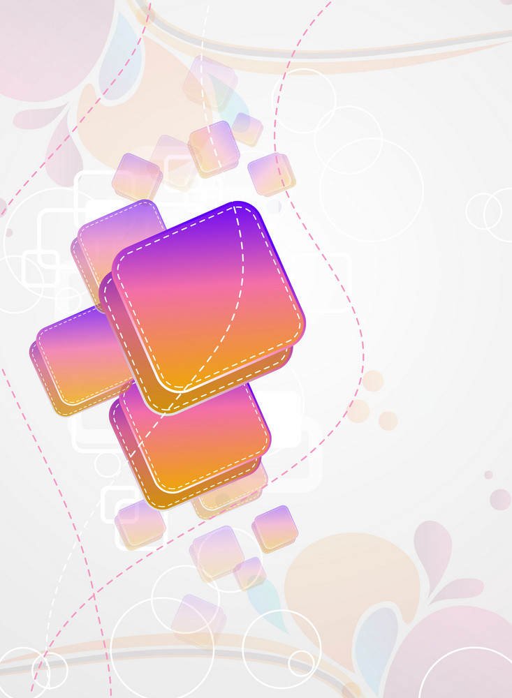 Vector Abstract Background With Colorful Rectangles