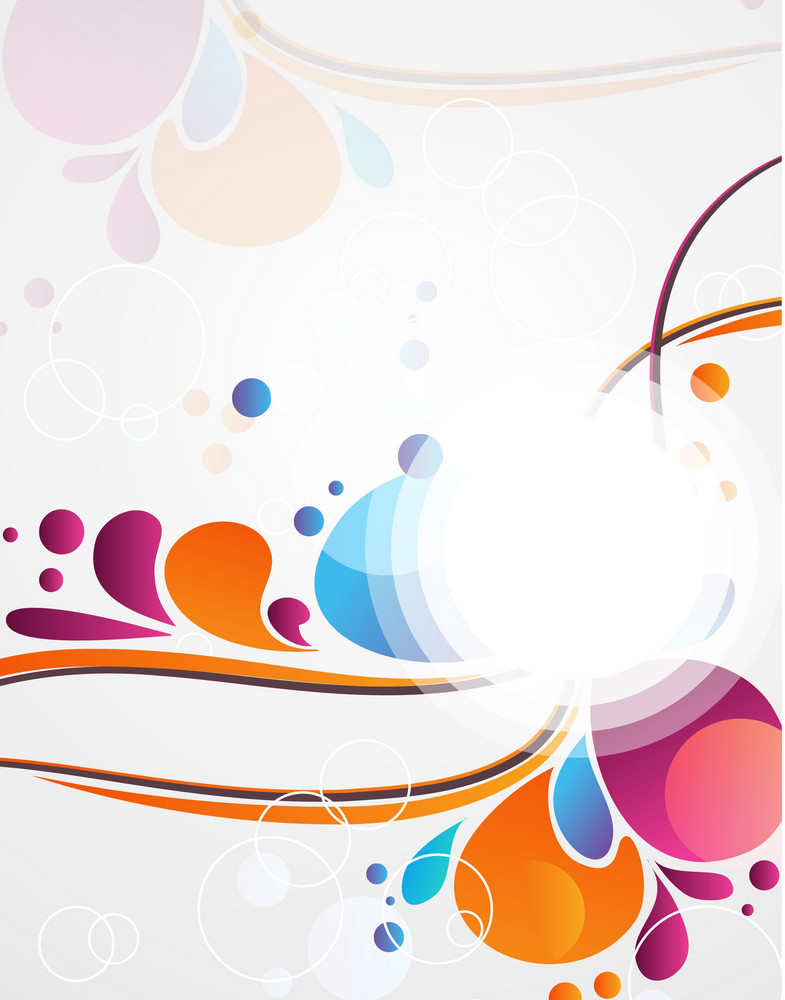 Vector Abstract Background With Colorful Swirls