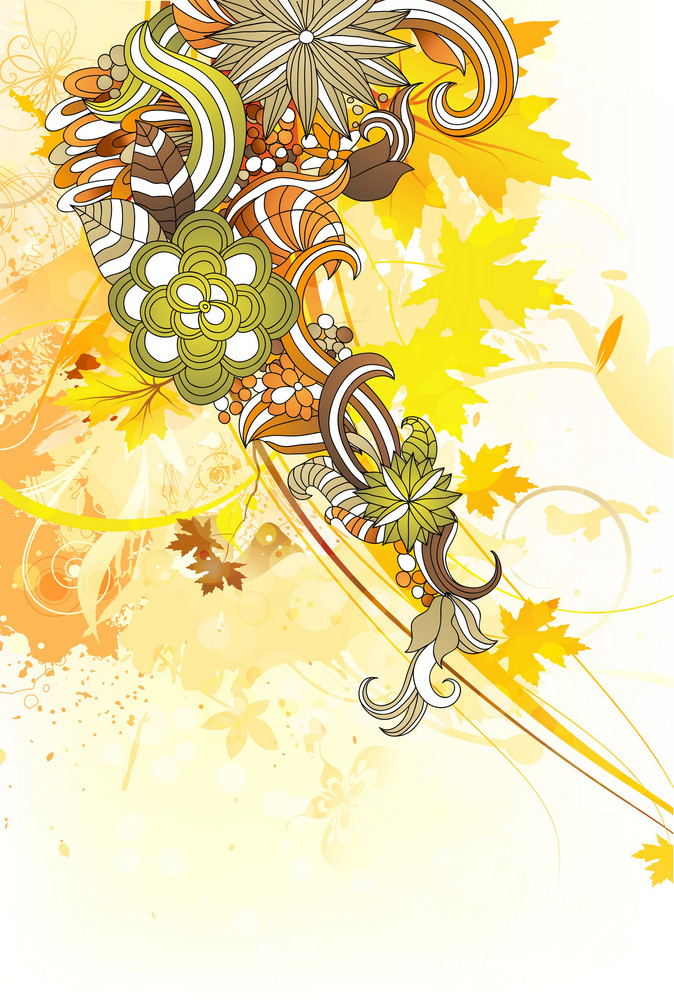 Vector Abstract Background With Floral