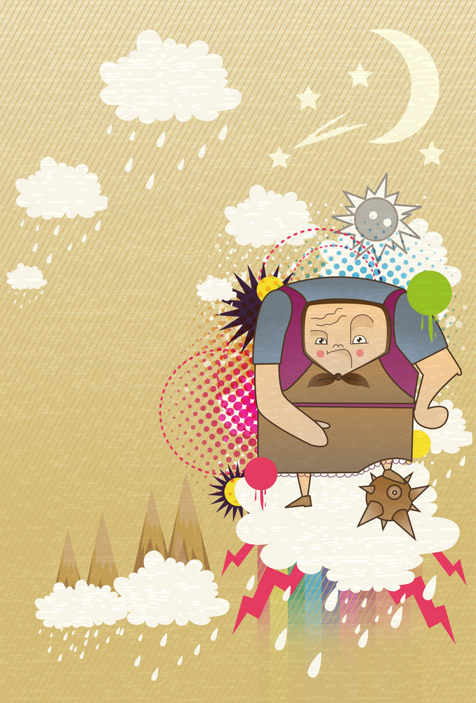 Vector Abstract Background With Funny Person