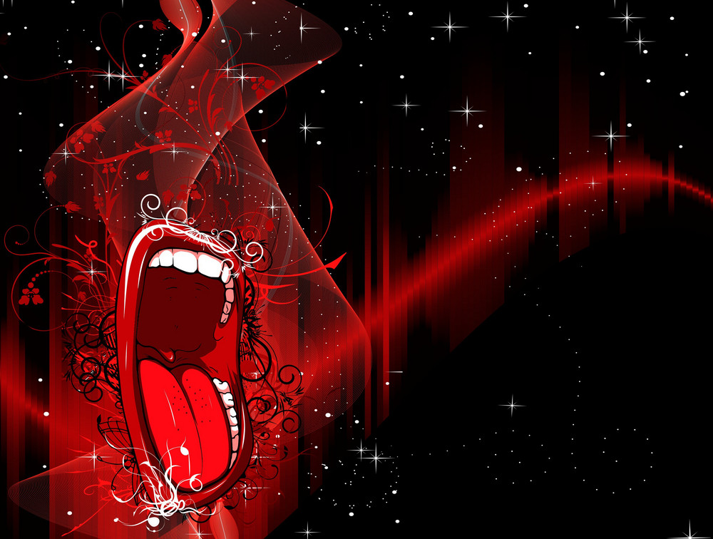 Vector Abstract Background With Mouth