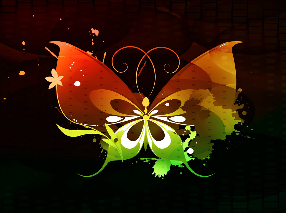 Vector Abstract Butterfly Illustration