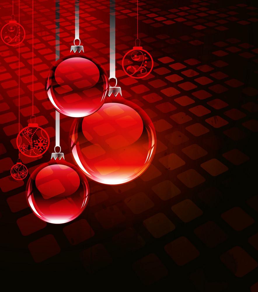 Vector Abstract Christmas Greeting Card