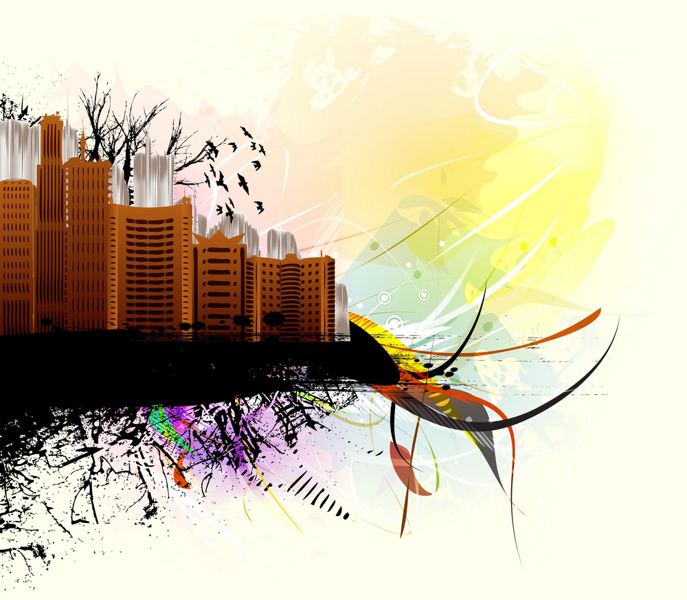 Vector Abstract City Illustration