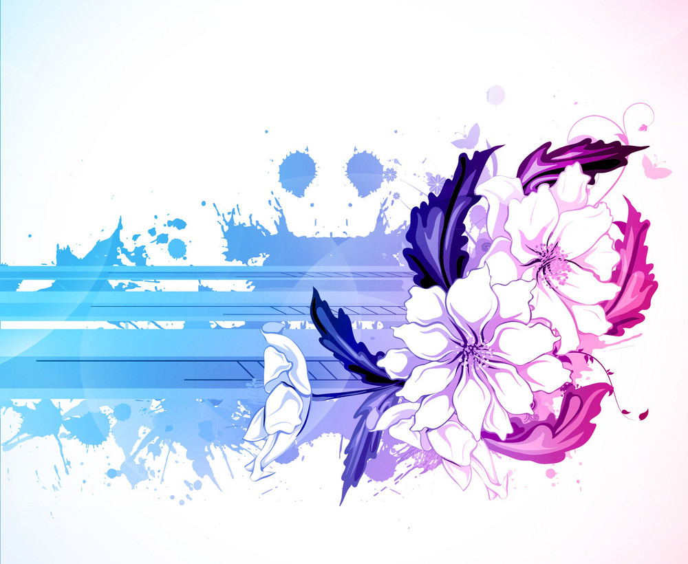 Vector Abstract Colorful Floral Background Royalty Free