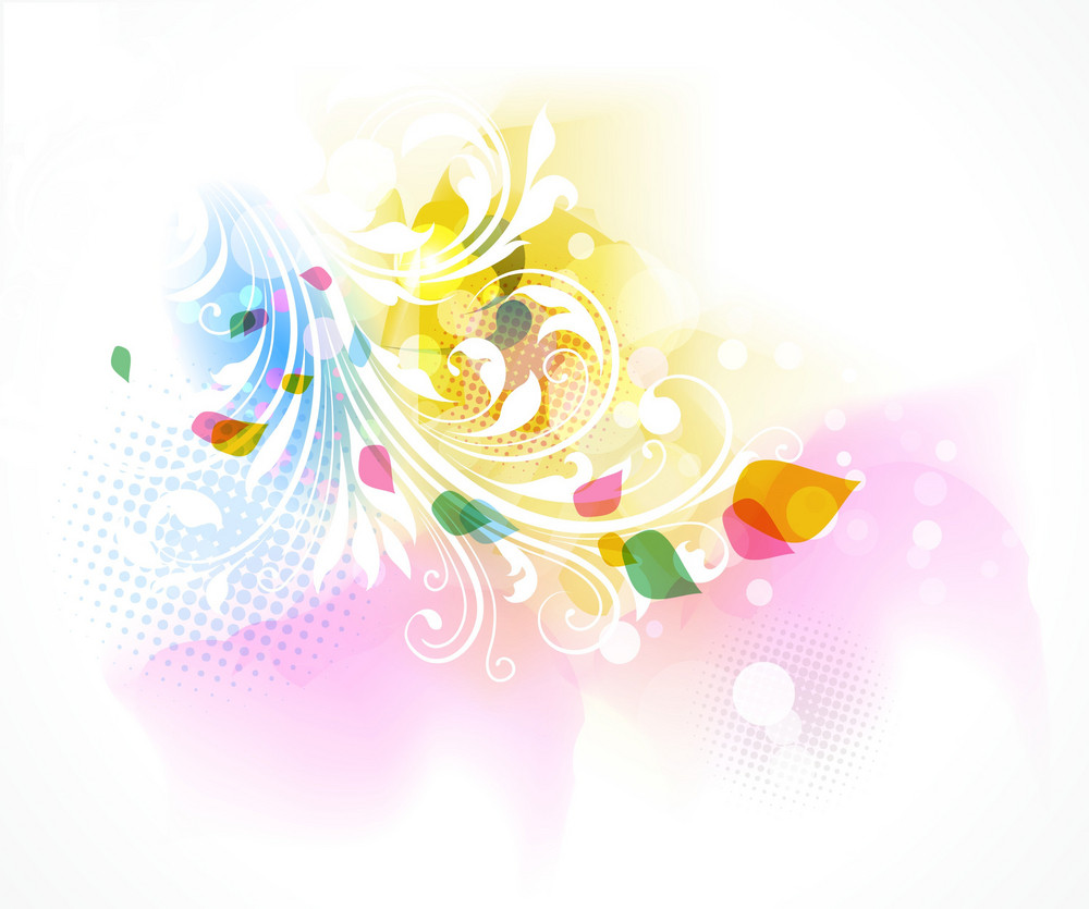 Vector Abstract Floral Background