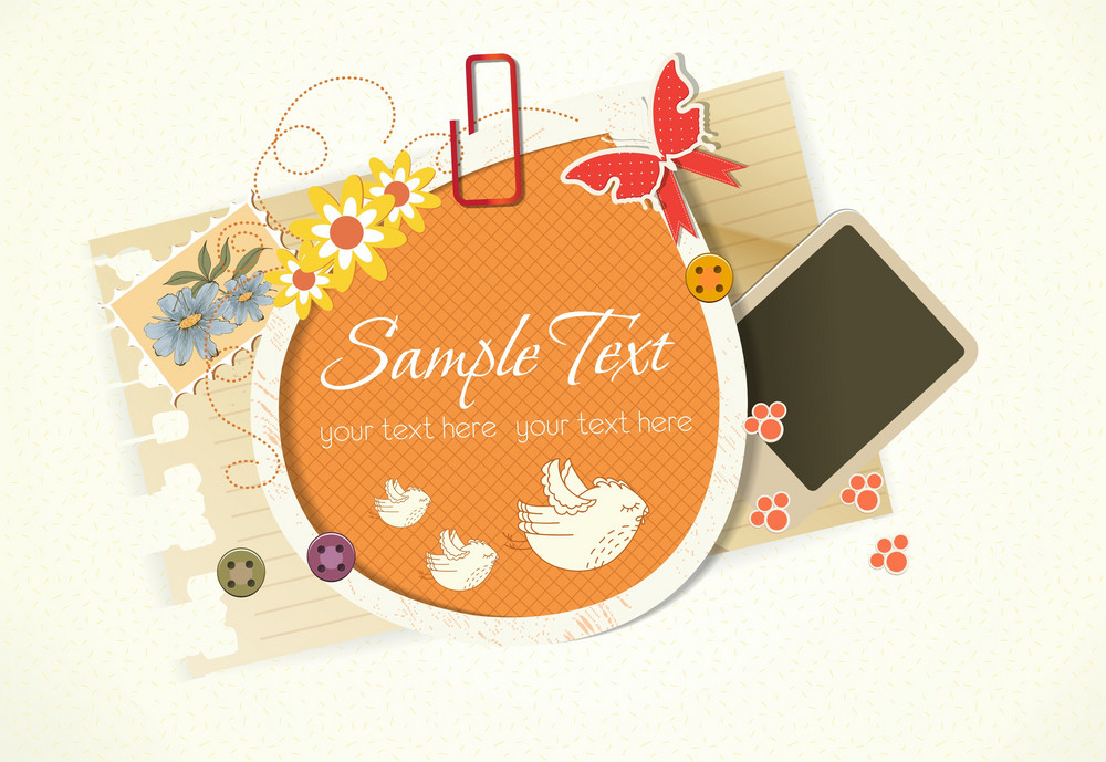 Vector Abstract Frame With Birds