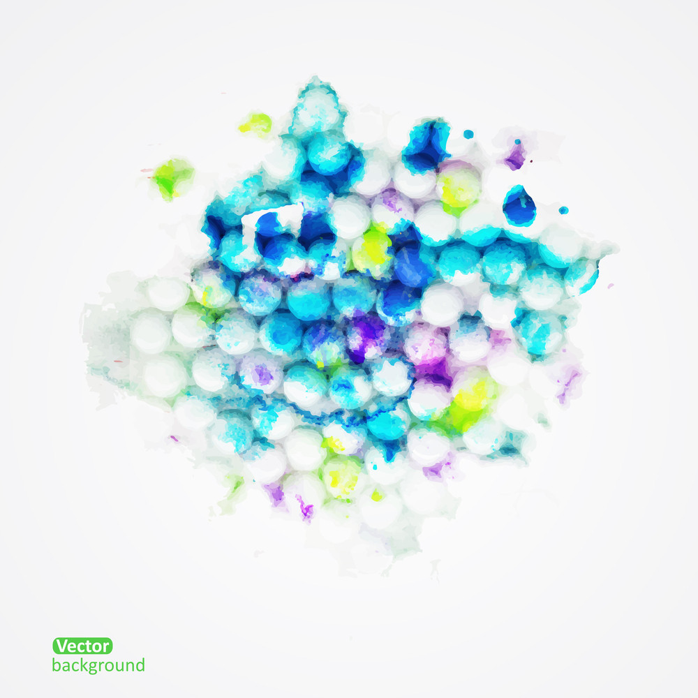 Vector Abstract Hand Drawn Paint Background
