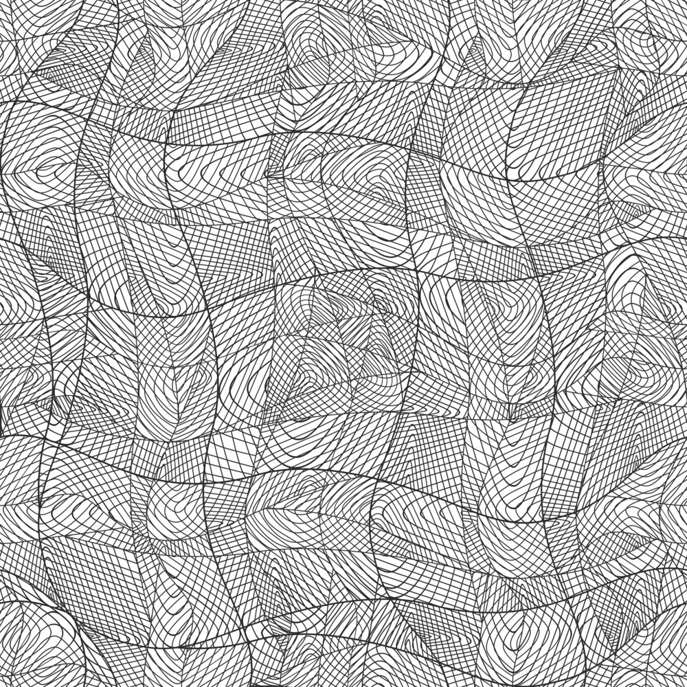 Vector  Abstract Hand-drawn Waves Pattern