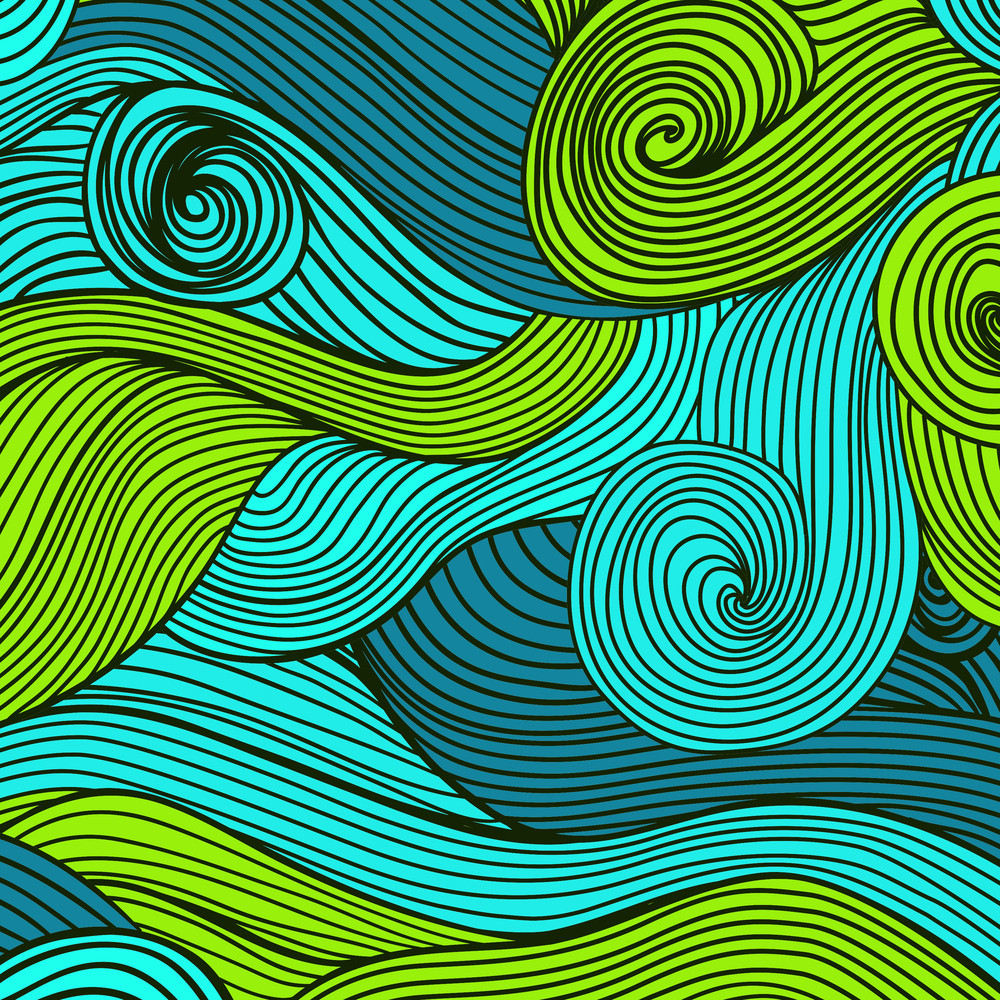 Vector Abstract Hand-drawn Waves Texture