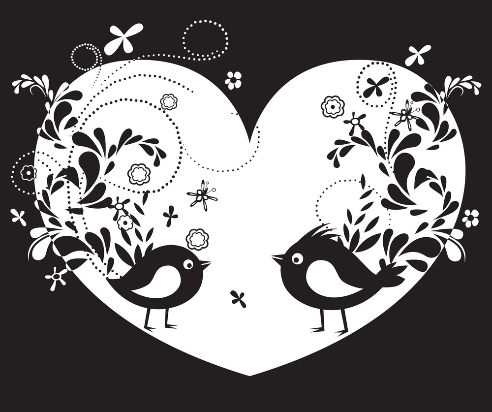 Vector Abstract Illustration With Birds