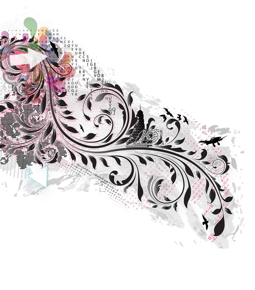 Vector Abstract Illustration With Floral
