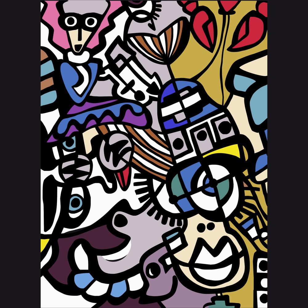 Vector Abstract Mosaic