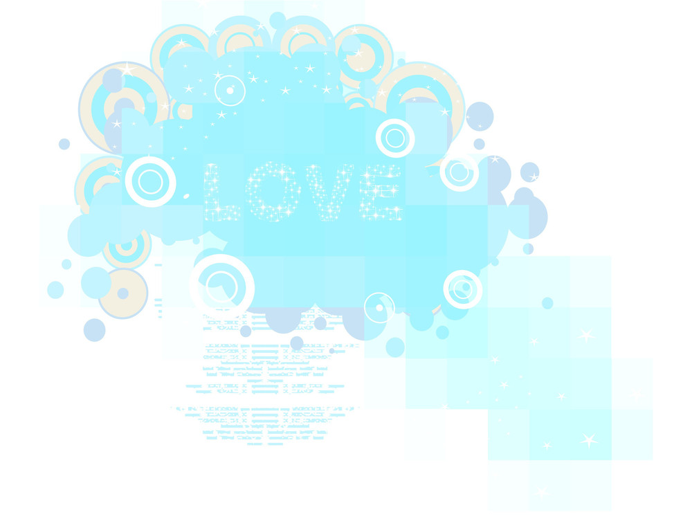 Vector Abstract Pattern Romantic Background