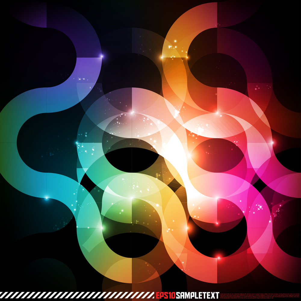 Vector Abstract Patterns Glow In The Dark