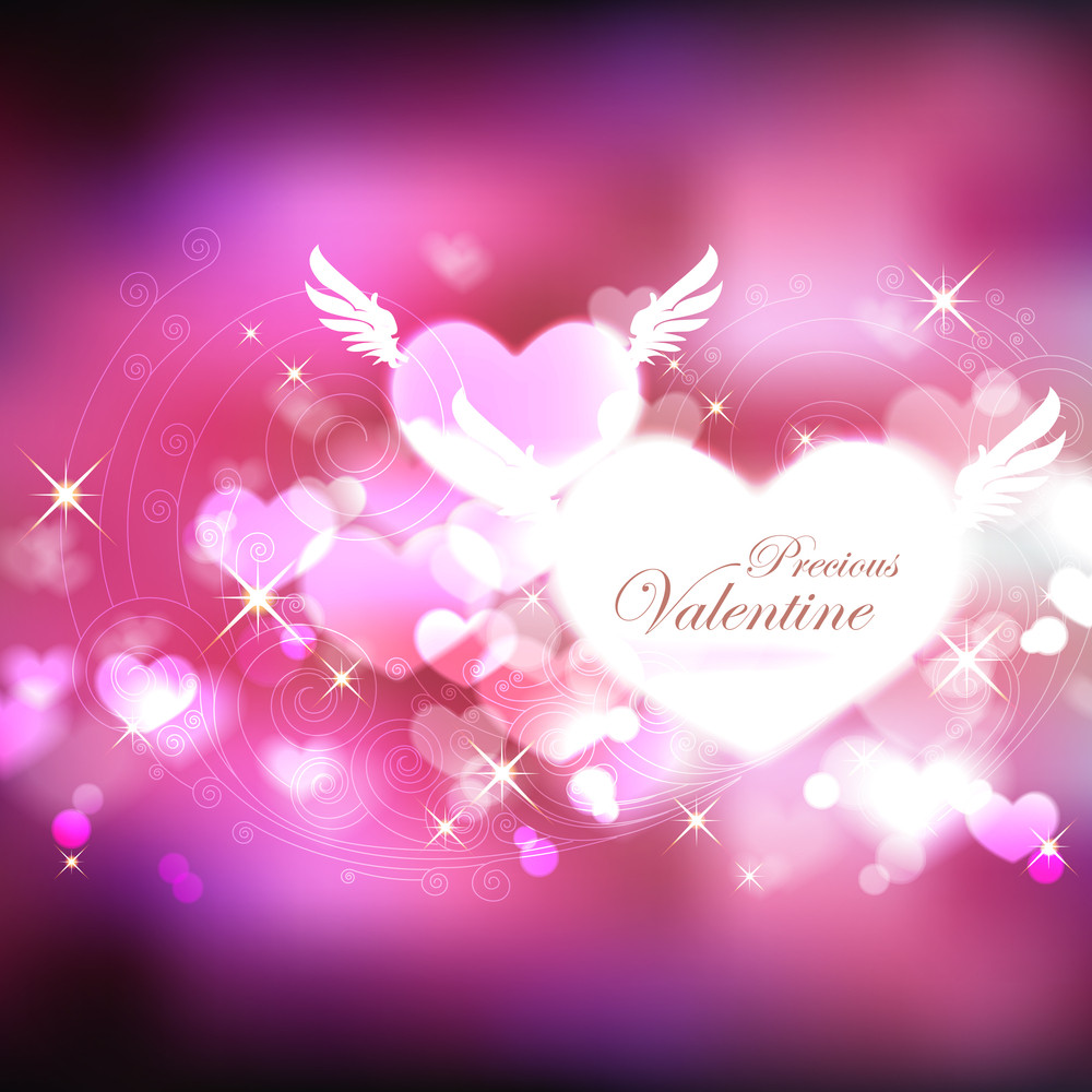 Vector Abstract Valentine Background