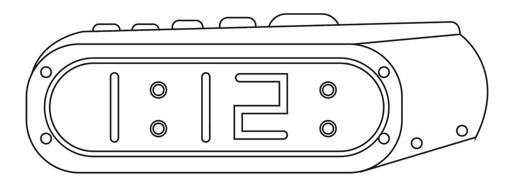 Vector Alarm Clock Drawing