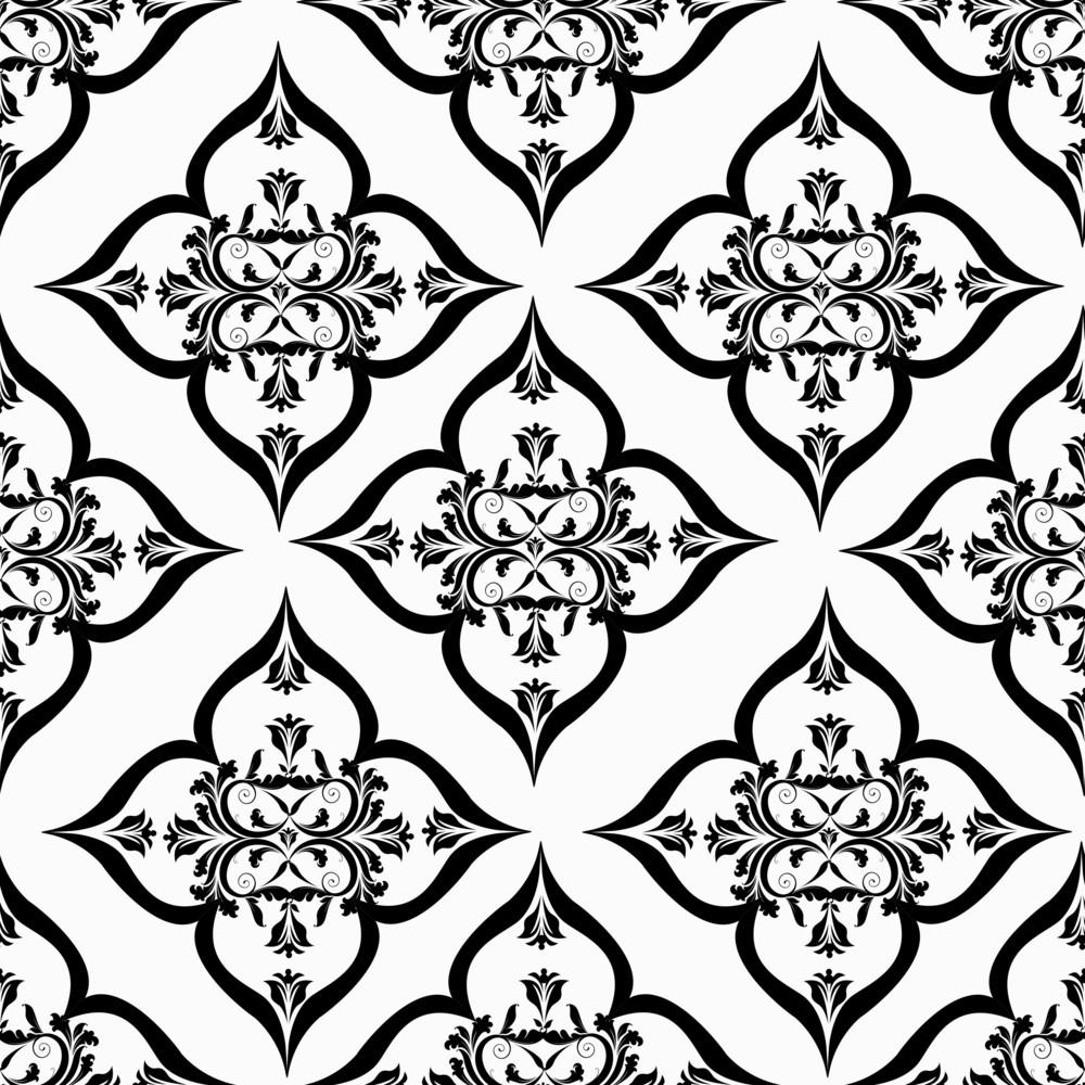 Vector Arabesque Seamless Pattern