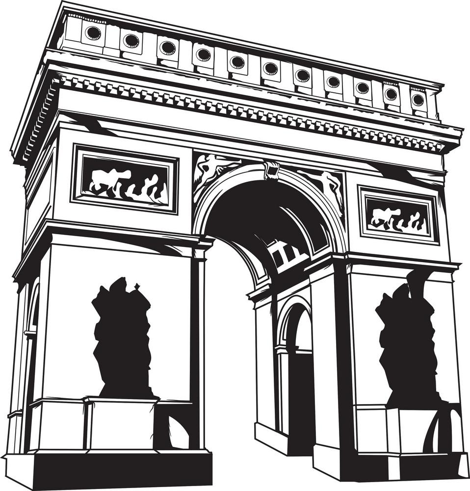 Vector Arch Of Triumph