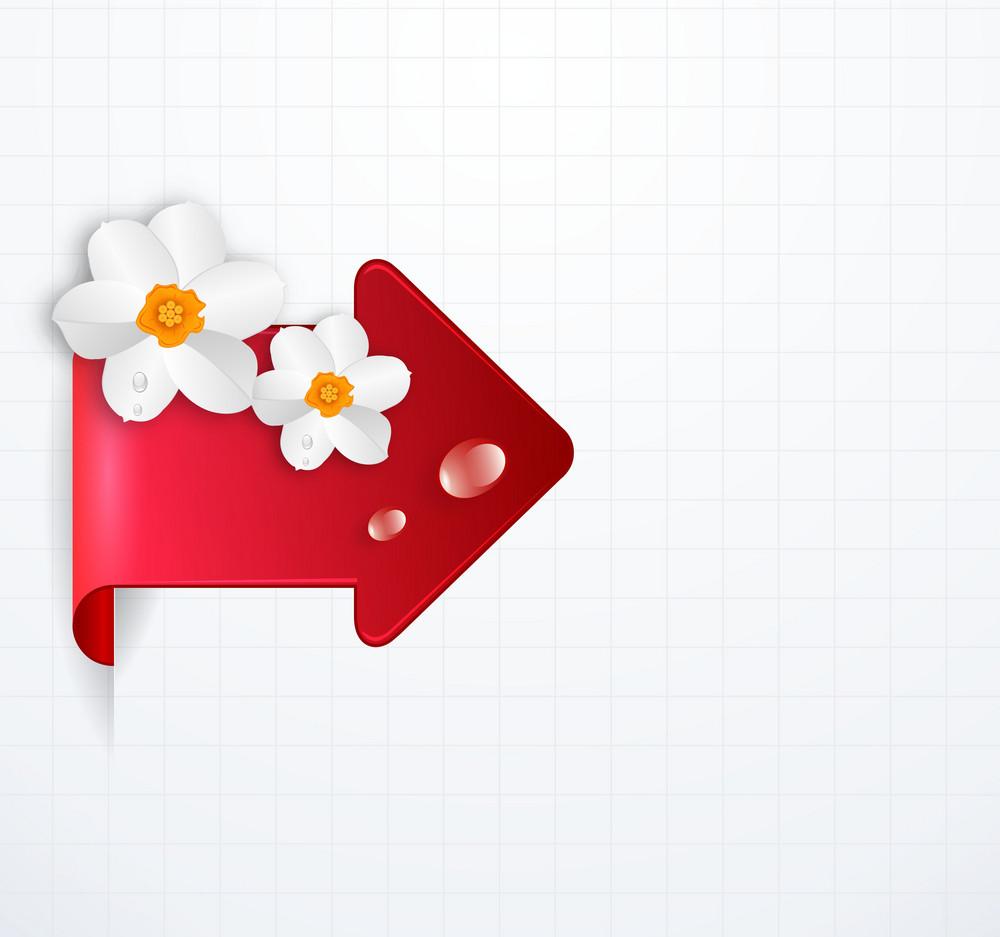 Vector Arrow With Floral