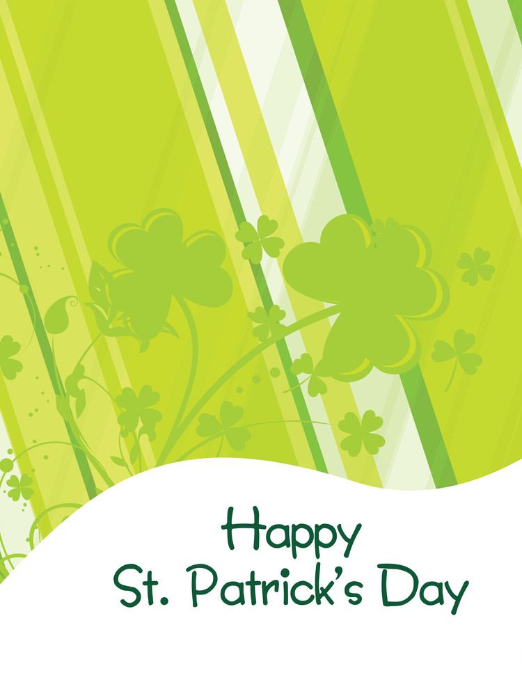 Vector Artistic Pattern Patrick's Day Card